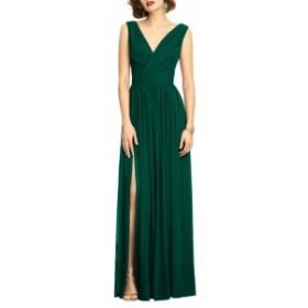 デッシーコレクション ドレス 結婚式用ドレス レディース【DESSY COLLECTION Surplice Ruched Chiffon Gown