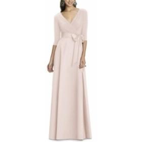 アルフレッドサング ドレス 結婚式用ドレス レディース【ALFRED SUNG Jersey Bodice A-Line Gown】Blush