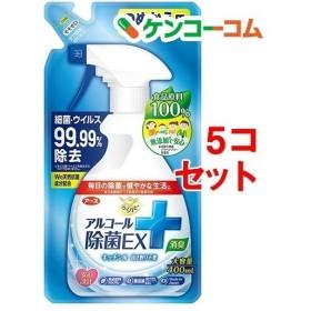 らくハピ アルコール除菌EX つめかえ ( 400mL5コセット )/ らくハピ