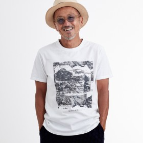 Tシャツ - SHIFFON KAGAFURI KAMAKURA(カガフリ カマクラ) OLD MAP Tシャツ(ホワイト)
