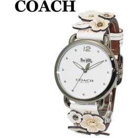 678682fd7389 コーチ 腕時計 レディース 14502746 COACH DELANCEY デランシー ホワイト系 レザー/シルバー 時計 ウォッチ