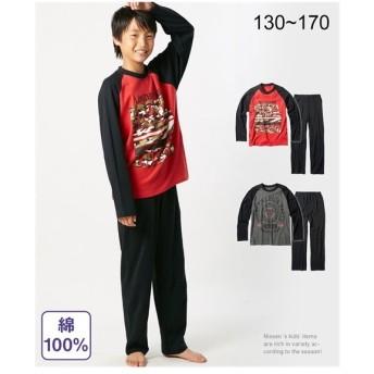 パジャマ キッズ 綿100% アメカジプリント 長袖 男の子 子供服・ジュニア服 身長130cm ニッセン