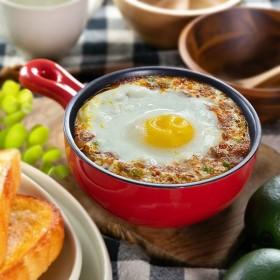 グラタン皿 丸型 23cm フッ素加工 手付き 皿 プレート 耐熱皿 陶磁器 食器 ( オーブン 電子レンジ 対応 洋食器 耐熱 丸皿 )