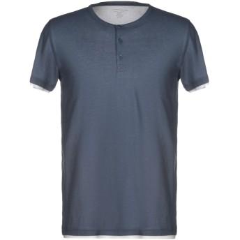 《9/20まで! 限定セール開催中》MAJESTIC FILATURES メンズ T シャツ ブルーグレー M コットン 100%
