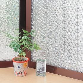 窓ガラスフィルム クリスタル 【レンズ調】 クリア 92cmX90cm カーテン付属品