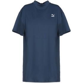 《セール開催中》PUMA レディース T シャツ ブルーグレー XXS コットン 100% BOW ELONGATED TEE