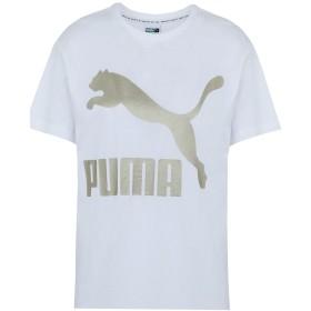 《セール開催中》PUMA レディース T シャツ ホワイト M コットン 100% Classics Logo Tee