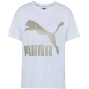 《期間限定 セール開催中》PUMA レディース T シャツ ホワイト M コットン 100% Classics Logo Tee