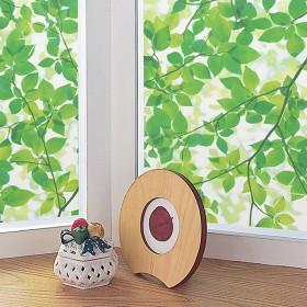 窓ガラスフィルム グリーンリーフ 92cmX90cm カーテン付属品