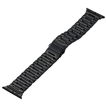 エレコムApple Watch 38mm用プレミアムステンレスバンドブラックAW-38BDSS3BK