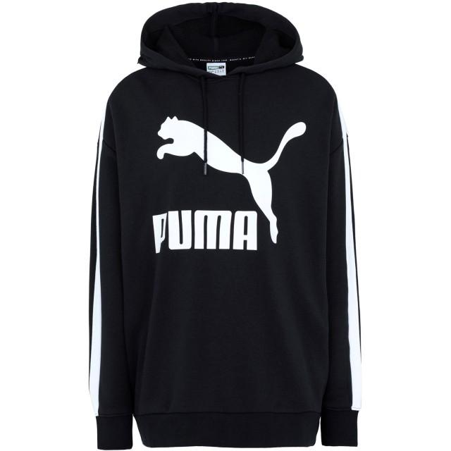 《期間限定セール開催中!》PUMA レディース スウェットシャツ ブラック L コットン 68% / ポリエステル 32% Classics Logo T7 Hoody Cotton Black