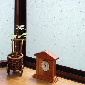 窓ガラスフィルム 和紙風 【飛散防止効果つき】 ホワイト 46cmX90cm カーテン付属品