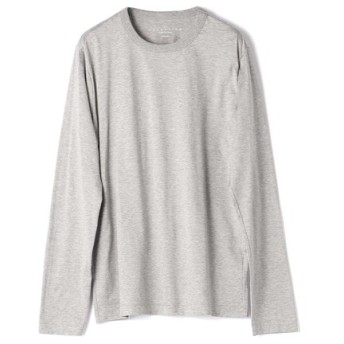 ESTNATION クルーネックロングスリーブTシャツ GIZAndyシリーズ グレー/MEDIUM(エストネーション)◆メンズ Tシャツ/カットソー