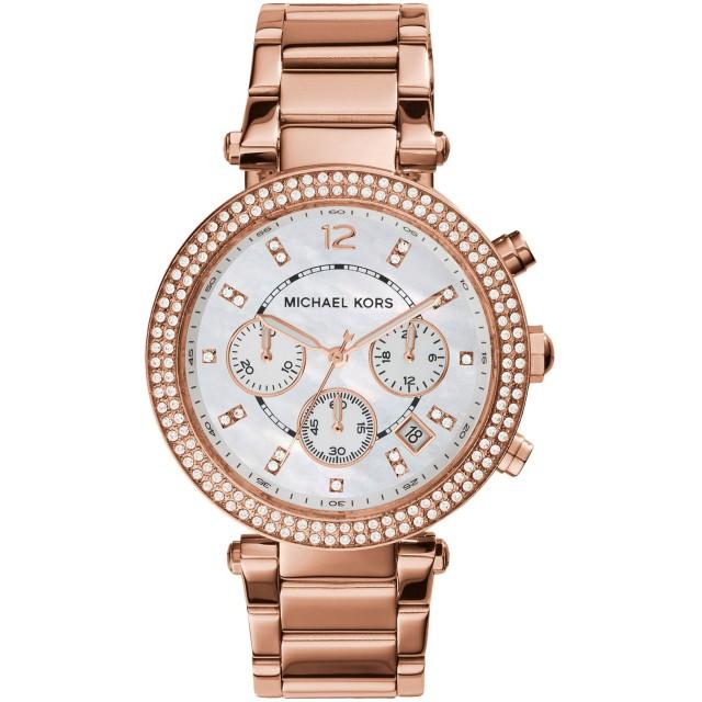 《期間限定セール開催中!》MICHAEL KORS レディース 腕時計 ホワイト ステンレススチール
