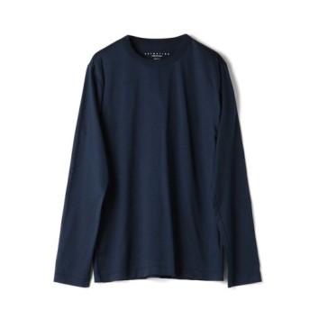 ESTNATION クルーネックロングスリーブTシャツ GIZAndyシリーズ ネイビー/SMALL(エストネーション)◆メンズ Tシャツ/カットソー