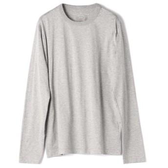 ESTNATION クルーネックロングスリーブTシャツ GIZAndyシリーズ グレー/LARGE(エストネーション)◆メンズ Tシャツ/カットソー