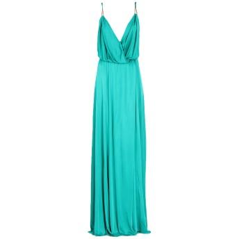 《セール開催中》VERSACE COLLECTION レディース ロングワンピース&ドレス エメラルドグリーン 44 レーヨン 100%
