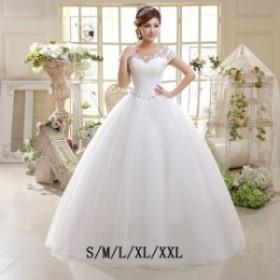 イブニングドレス ホワイト きれいめ プリンセスドレス 上品 発表会 背開き きれいめ 花嫁ドレス ブライダル 袖あり 音楽会