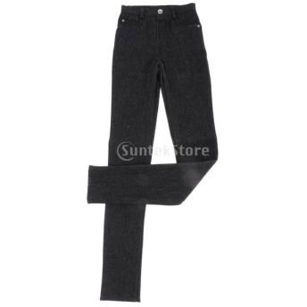 70センチメートル ブラック トレンディ BJD SD17 AOD AS DODドールに適用 黒のジーンズ ズボン 男性 男性人形衣類