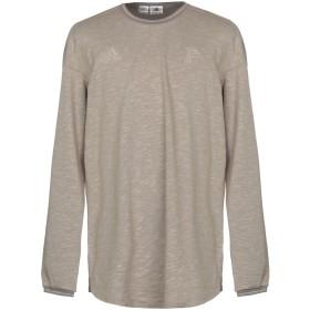 《セール開催中》ADIDAS メンズ スウェットシャツ ドーブグレー S 56% コットン 44% ポリエステル