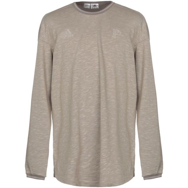 《期間限定 セール開催中》ADIDAS メンズ スウェットシャツ ドーブグレー S 56% コットン 44% ポリエステル