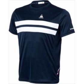 le coq sportif (ルコック スポルティフ) メンズ テニスウェア 半袖シャツ NVY QTULJA31ZZ 1802 メンス 紳士 男