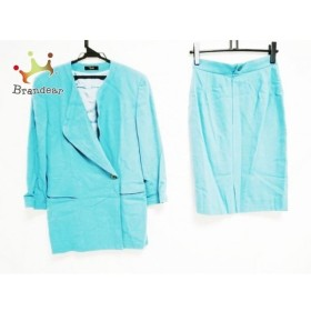 ジョコンダ joconde スカートスーツ サイズJ-9 レディース ライトブルー 肩パッド         スペシャル特価 20190424