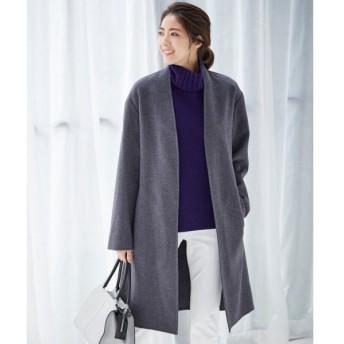 L size ONWARD(大きいサイズ) / エルサイズオンワード Wool Rever ノーカラーコート