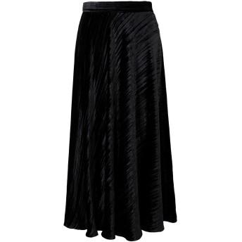 《セール開催中》AU JOUR LE JOUR レディース 7分丈スカート ブラック 38 レーヨン 82% / シルク 18%
