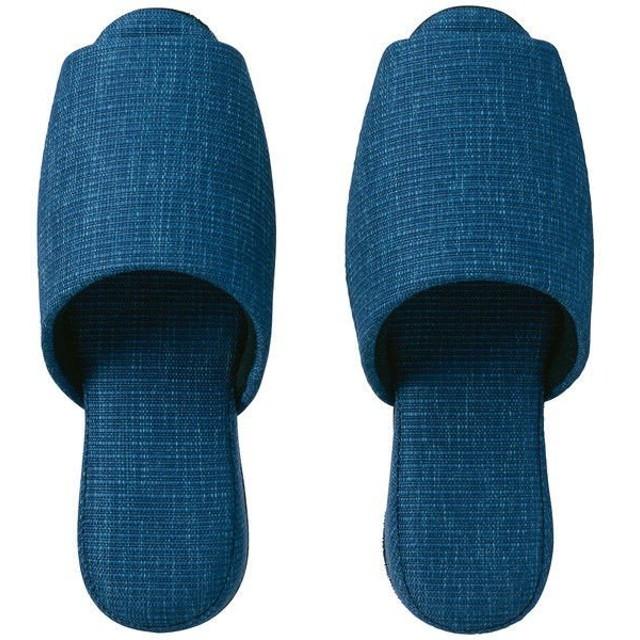 布製吊り込み前開きスリッパ クイート ブルー 1袋(1足入) 富士工業