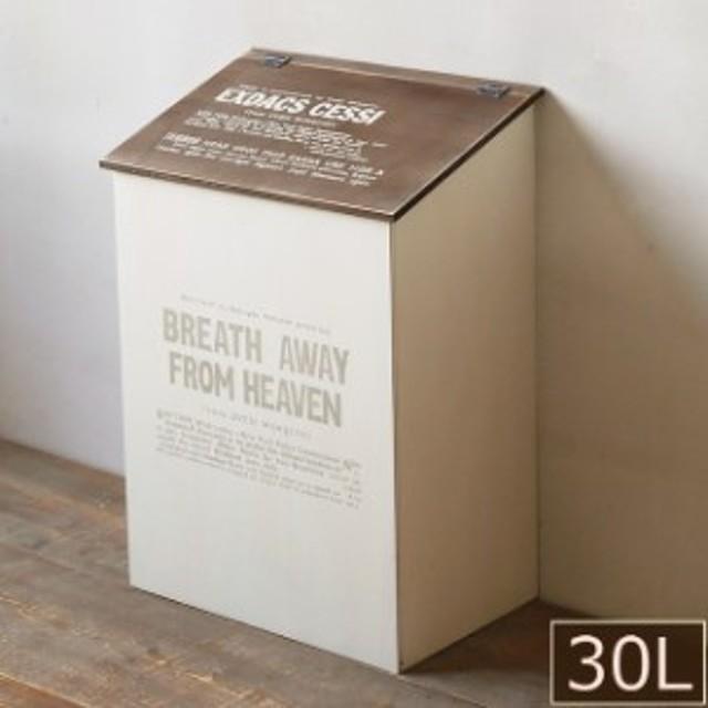 木製 ゴミ箱 30L ふた付きダストボックス こげ茶の屋根 日本製 BREA