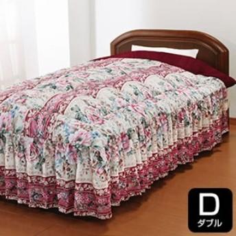NiceSleep/ナイススリープ あったか3層構造ボリュームマイヤー毛布地 ベッド布団フリル付き ダブル