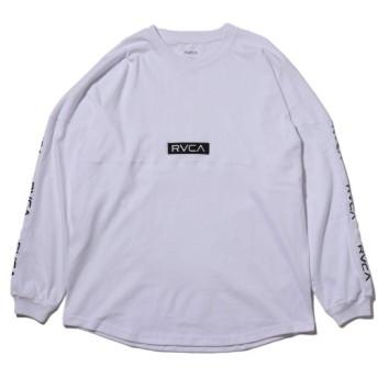 ルーカ RVCA 長袖Tシャツ テープ ルーカ ロングスリーブ (WHITE) 18HO-I
