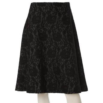 ef-de L / エフデ(エルサイズ) 《大きいサイズ》総レースフレアスカート