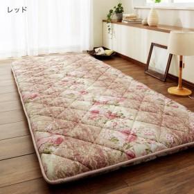 布団 敷き布団 日本製 プロファイルウレタン使用3層構造敷き布団 カラー レッド