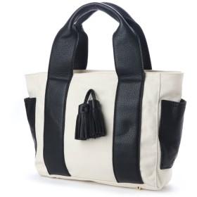 Riletto リレット 牛革 帆布 タッセルトートバッグ