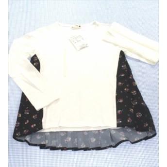 ブランシェス BRANSHES 長袖Tシャツ ロンt 130cm 新品 白系 女の子 キッズ トップス 子供服 通販 買い取り