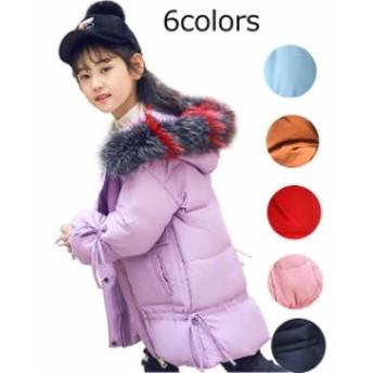 子供服 女の子 ダウンジャケット ダウンコート ジュニア アウター キッズ ジャンパー コート 帽子付き 暖かい 通学用 お出かけ 冬着