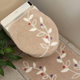 HOME COORDY 消臭加工 トイレふた 洗浄型 リーフ ベージュ ホームコーディ ベ-ジユ 洗浄型 トイレ用品
