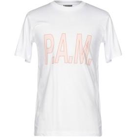 《期間限定セール開催中!》P.A.M. PERKS AND MINI メンズ T シャツ ホワイト S コットン 100%