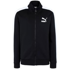 《セール開催中》PUMA メンズ ブルゾン ブラック S コットン 77% / ポリエステル 23% Classics T7 Track Jacket Dk ac