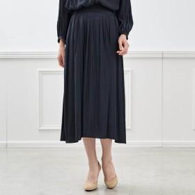 スカート レディース 40代 30代 春 スカート ロング マキシ おしゃれ きれいめ エレガント ネイビー