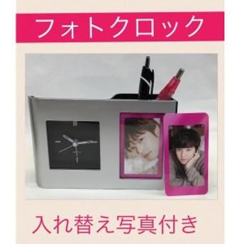 【送料無料】 フォトクロック キムジョンフン キム・ジョンフン 置き時計 時計 写真付き 韓流 グッズ nm002-1