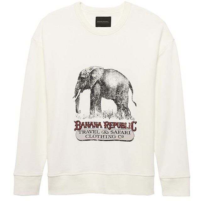 Banana Republic フレンチテリー ロゴスウェットシャツ