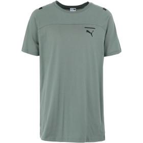《セール開催中》PUMA メンズ T シャツ グリーン S コットン 100% Pace Tee