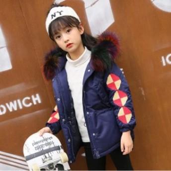 子供服 女の子 ダウンジャケット ダウンコート 冬着 キッズ ジュニア アウター ジャンパー コート 帽子付き 暖かい 通学用 お出かけ