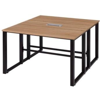 古木柄 木製テーブル 1214 RGミーティングテーブル 120×140cm テーブル デスク 机 木製 代引不可