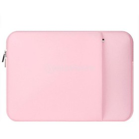 ラップトップバッグ PC収納ボックス スリーブケース ジッパー付き MacBook Pro/ Air対応 全3色4サイズ - ピンク, 13インチ