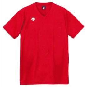 DESCENTE (デサント) V首半袖ゲームシャツ(ユニセックス) DSS4321 RED 1612 メンズ レディース