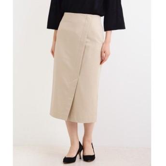 NIMES / ニーム コットンサテンストレッチ アシメントリータイトスカート